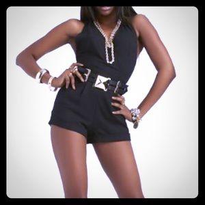 BN Nicki Minaj Black Halter Romper /Jumpsuit Small
